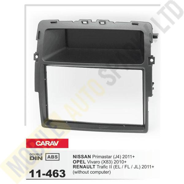 11-463 NISSAN Primastar (J4) 2011+ / OPEL Vivaro (X83) 2010+ / RENAULT Trafic II (EL,FL,JL) 2011+ Fitting Kit