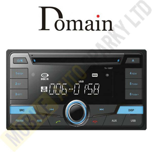 Domain Stereo TA168BT Toyota Standard 2 Din Size CD / MP3 / WMA / USB Playback with Bluetooth