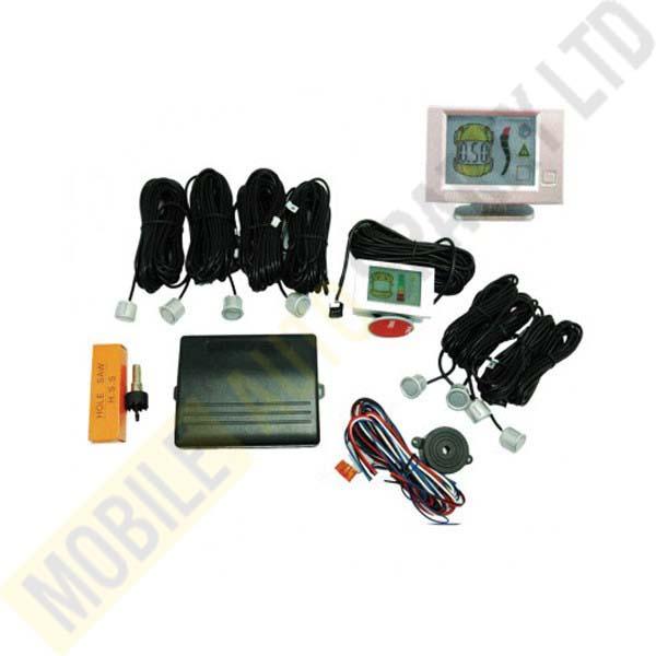 Front & Rear Parking Sensors QJ-868B (Front 4 & Rear 4 Sensors) Installed
