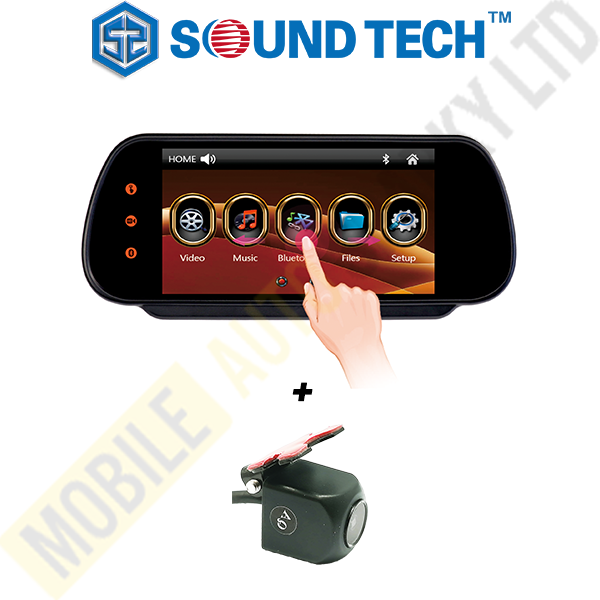 SoundTech M708 7 Inch Rearview Mirror Monitor with camera(installed)