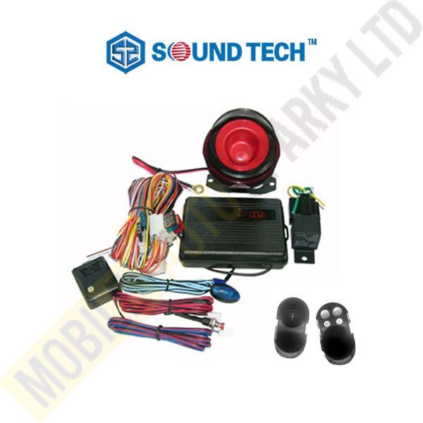 Sound Tech Car Alarm with Single Immobilizer (Installed)