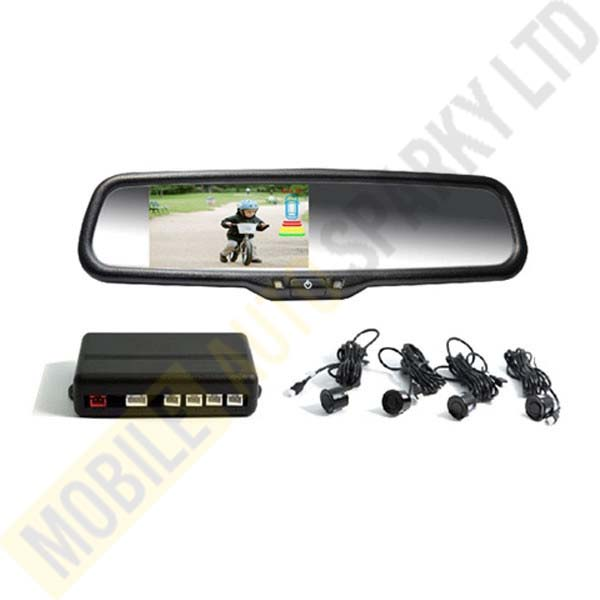 Rear Parking Sensors and Rear Camera with TM-4388 CRS-R Mirror Monitor