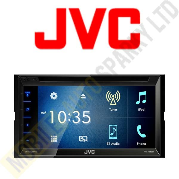 "JVC KW-V340BT Multimedia Receiver featuring 6.8"" Clear Resistive Touch Panel"